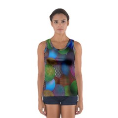 Multicolored Patterned Spheres 3d Women s Sport Tank Top