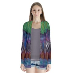 Multicolored Patterned Spheres 3d Cardigans