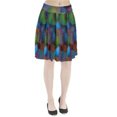 Multicolored Patterned Spheres 3d Pleated Skirt