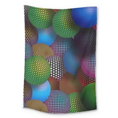 Multicolored Patterned Spheres 3d Large Tapestry