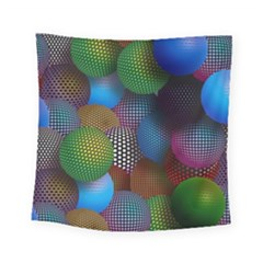 Multicolored Patterned Spheres 3d Square Tapestry (small)