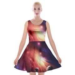 Nebula Elevation Velvet Skater Dress