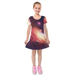 Nebula Elevation Kids  Short Sleeve Velvet Dress