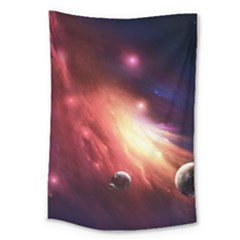 Nebula Elevation Large Tapestry