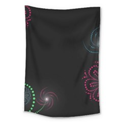 Neon Flowers And Swirls Abstract Large Tapestry