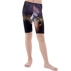New Year's Evein Sydney Australia Opera House Celebration Fireworks Kids  Mid Length Swim Shorts