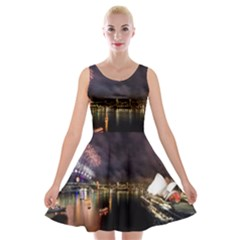 New Year's Evein Sydney Australia Opera House Celebration Fireworks Velvet Skater Dress