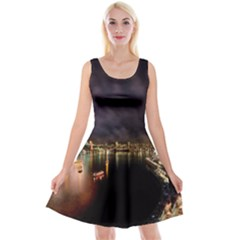 New Year's Evein Sydney Australia Opera House Celebration Fireworks Reversible Velvet Sleeveless Dress