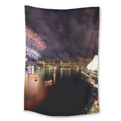 New Year's Evein Sydney Australia Opera House Celebration Fireworks Large Tapestry