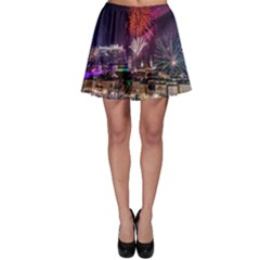 New Year New Year's Eve In Salzburg Austria Holiday Celebration Fireworks Skater Skirt