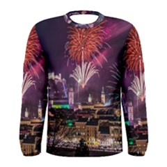 New Year New Year's Eve In Salzburg Austria Holiday Celebration Fireworks Men s Long Sleeve Tee