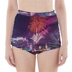 New Year New Year's Eve In Salzburg Austria Holiday Celebration Fireworks High-Waisted Bikini Bottoms