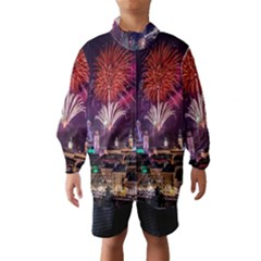 New Year New Year's Eve In Salzburg Austria Holiday Celebration Fireworks Wind Breaker (kids)