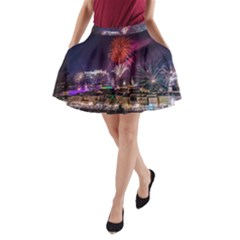 New Year New Year's Eve In Salzburg Austria Holiday Celebration Fireworks A-Line Pocket Skirt