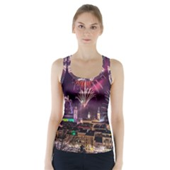 New Year New Year's Eve In Salzburg Austria Holiday Celebration Fireworks Racer Back Sports Top