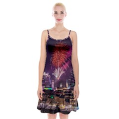 New Year New Year's Eve In Salzburg Austria Holiday Celebration Fireworks Spaghetti Strap Velvet Dress