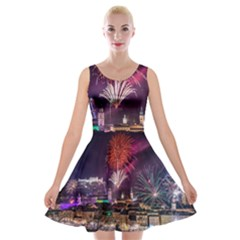 New Year New Year's Eve In Salzburg Austria Holiday Celebration Fireworks Velvet Skater Dress