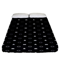 Space Black Fitted Sheet (Queen Size)