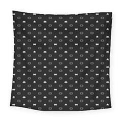 Space Black Square Tapestry (large)