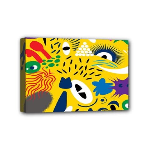 Yellow Eye Animals Cat Mini Canvas 6  x 4
