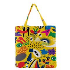 Yellow Eye Animals Cat Grocery Tote Bag