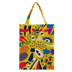 Yellow Eye Animals Cat Classic Tote Bag