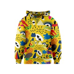 Yellow Eye Animals Cat Kids  Pullover Hoodie