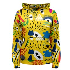 Yellow Eye Animals Cat Women s Pullover Hoodie