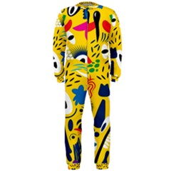 Yellow Eye Animals Cat OnePiece Jumpsuit (Men)