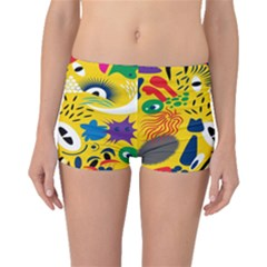 Yellow Eye Animals Cat Boyleg Bikini Bottoms