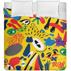 Yellow Eye Animals Cat Duvet Cover Double Side (King Size)