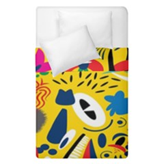 Yellow Eye Animals Cat Duvet Cover Double Side (Single Size)