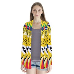 Yellow Eye Animals Cat Cardigans