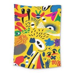 Yellow Eye Animals Cat Medium Tapestry