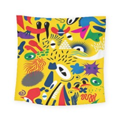 Yellow Eye Animals Cat Square Tapestry (small)