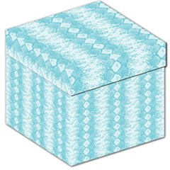 Snake Skin Blue Chevron Wave Storage Stool 12