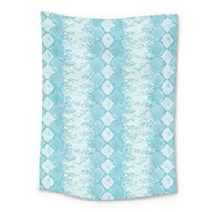 Snake Skin Blue Chevron Wave Medium Tapestry