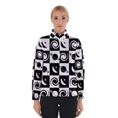 Space Month Saturnus Planet Star Hole Black White Winterwear
