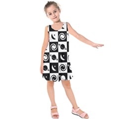 Space Month Saturnus Planet Star Hole Black White Kids  Sleeveless Dress