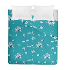Space Astronaut Duvet Cover Double Side (Full/ Double Size)