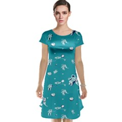 Space Astronaut Cap Sleeve Nightdress