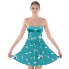 Space Astronaut Strapless Bra Top Dress