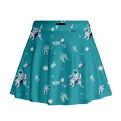 Space Astronaut Mini Flare Skirt