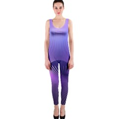 Space Galaxy Purple Blue Line OnePiece Catsuit
