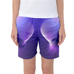 Space Galaxy Purple Blue Line Women s Basketball Shorts