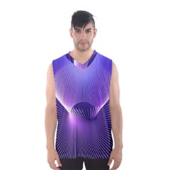 Space Galaxy Purple Blue Line Men s Basketball Tank Top