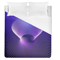 Space Galaxy Purple Blue Line Duvet Cover (Queen Size)