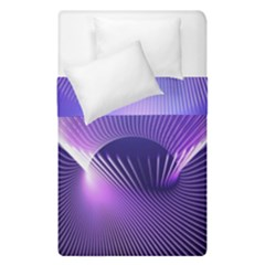 Space Galaxy Purple Blue Line Duvet Cover Double Side (Single Size)