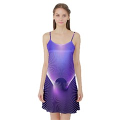 Space Galaxy Purple Blue Line Satin Night Slip