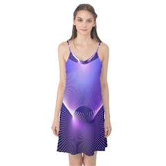Space Galaxy Purple Blue Line Camis Nightgown